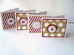 Schnecke's Kreativ-Laden: 4 Mini - Karten für alle Gelegenheiten