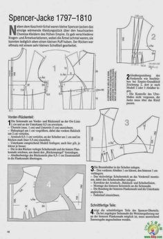 Sewing Patterns Free, Free Sewing, Doll Patterns, Clothing Patterns, Dress Patterns, Sewing Diy, Historical Costume, Historical Clothing, Empire