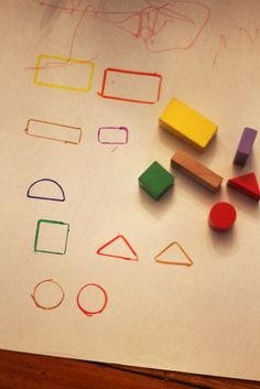 Match blocks to their shape and color.  Repinned by Apraxiakidslearning