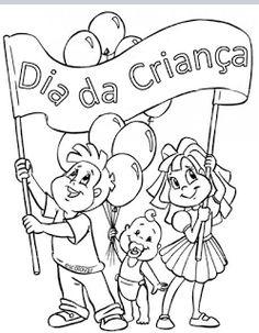 30 desenhos do Dia das Crianças para colorir, pintar, imprimir! Criança para…