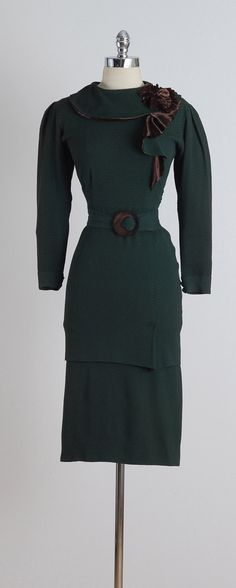 Third Avenue El . vintage 1930s dress . by millstreetvintage