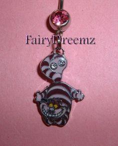 Cheshire Cat From Alice in Wonderland Disney Belly by FairyDreemz, $12.00