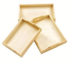 Tablett, Holztablett, 3er-Set, verschiedene Größen, von VBS