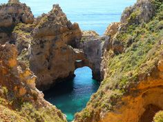 Lagos, Portugal.  This was such a beautiful place to lay out and soak in the sun.