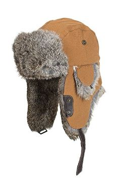 9984e339c1e Buy Canvas Trapper Hat with Rabbit Fur Trim