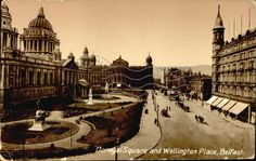 Donegal Square and Wellington Place, Belfast | Postcards Ireland