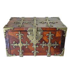 Period Louis XIVth Coffre de Voyage with Brass Fittings/Handles