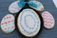 Gluten Free Painted Easter Egg Cookies - instead of dipping eggs, make these beautiful 'painted' cookies