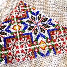 Hardanger bunad bringeklut perlesaum pearl embroidery