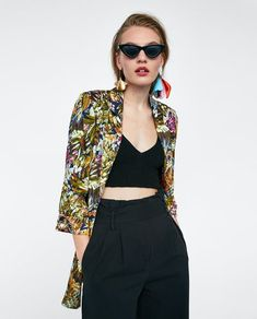 FLORAL PRINTED BLAZER-BLAZERS-WOMAN | ZARA United Kingdom