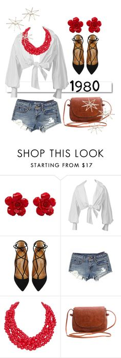 """Stuck in CrAzY 1980"" by makeup-queen-anna ❤ liked on Polyvore featuring Chanel, White Label, Aquazzura, American Eagle Outfitters, Humble Chic and Uttermost"