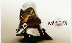 Despicable Me minion that i created to look like a character from Assassin's creed. This was done as part of a contest to create a minion in Obvious. Despicable Me: Minion's Creed Amor Minions, Despicable Me 2 Minions, Cute Minions, Minions Quotes, Minions Images, Minions Cartoon, Funny Minion, Minion Stuff, Evil Minions