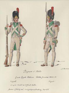 Italy; Royal Guard, Velites Regiment, Grenadier Battalion, Corporal & Sergeant, c.1810-11