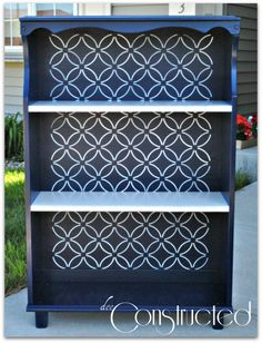 DIY Design & Home Decor: How to Achieve the Look of this Revamped Bookcase!