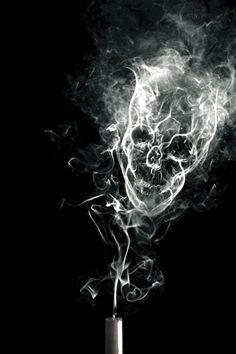 Smoky Skull art smoke animated skull gif