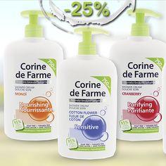 Натуральна косметика для тих, хто піклується про своє здоров'я! Гелі для душу з чарівними ароматами від Corine de Farme з 25% знижкою. http://eshoping.ua/uk/cdf-geli-0109.html