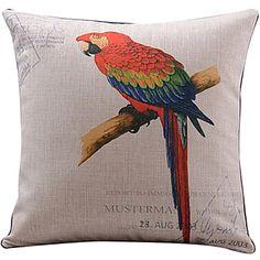färgglad papegoja mönster bomull / linne dekorativa örngott – SEK Kr. 159