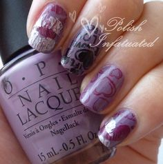 Stamping: purple, with love ♥