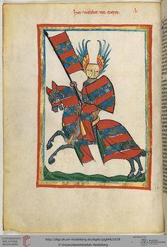 Codex Manesse, Herr Walther von Metze, Fol 166v, c. 1304-1340