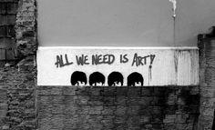 The Beatles street art