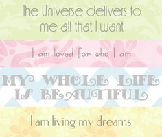 Printable Daily Affirmations | Girlfriends Are Like Shoes