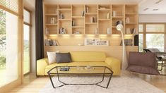 Moderna casa de 1 planta con techo a cuatro aguas y 166 m2-4 Design Case, Postmodernism, Home Projects, House Plans, New Homes, Shelves, Couch, Rustic, How To Plan