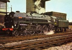 British Rail Britannia Class No 70015 'Apollo' - ETW Dennis Postcard N Scale Train Layout, Train Layouts, Diesel Locomotive, Steam Locomotive, Steam Trains Uk, Steam Railway, Abandoned Train, Train Times, Electric
