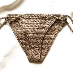 Crochet Bikini Bottoms 100% Mercerized by LillianAliceDesign