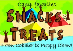 Recipe Chic: Snacks for Camp by kelly. Backyard Camping, Camping 101, Camping Meals, Family Camping, Outdoor Camping, Winter Camping, Camping Recipes, Girl Scout Troop, Girl Scouts
