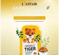 L'affair Rainbow Animal Facial Skin Mask Sheet Pack 25ml 10pcs_Wrinkle Tiger #Rainbow #333korea #skincare #beauty #koreacosmetics #cosmetics #oppacosmetics #cosmetic #koreancosmetics #masksheet #maskpack #facemask #facialmask