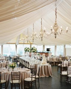 Following a ceremony by the water, this couple and their guests continued their…