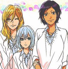 Genderbend Kise, Kuroko and Aomine