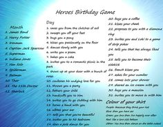AAM - Hero Birthday Game: Spiderman asks for your number (.)^^^Thor sweeps me off my feet and then we dance on a table naked. well that escalated fast. and Thor isnt even my fav hero Hetalia Birthday Scenario, Birthday Scenario Game, Birthday Games, Hero Games, Name Games, Love Sick, Romantic Picnics, Slow Dance, Captain Jack Sparrow