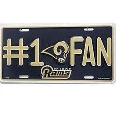 Los Angeles Rams #1 Fan License Plate