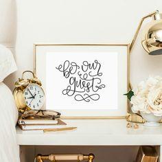 Rad and happy print. Guest room art.