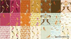 Mendocino Fabric by Heather Ross for Windham Fabrics — I've been waiting years for them to reprint this and the Katie Jump Rope fabric by Denyse Schmidt!