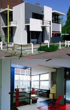 Rietveld Schröderhuis | The famous house that Gerrit Rietveld designed in 1923-1924 | Prins Hendriklaan 50