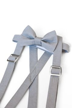 Little Boys Suspenders Set  Suspenders Bow Tie Set by wovenshop, $28.00