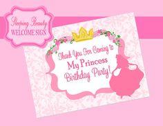 Sleeping Beauty  WELCOME SIGN/ Disney Princess by KROWNKREATIONS, $3.99