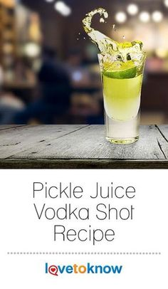 Pickle Juice Vodka shots are an out of the ordinary cocktail that you can serve at any party or event. Start with shot glasses rimmed with garlic or celery salt and finish the shot off with lime for garnish. Cucumber Vodka Drinks, Vodka Cocktails, Juice Drinks, Cocktail Drinks, Mocktails Menu, Healthy Cocktails, Pickle Juice Recipe, Pickle Juice Shot, Ireland