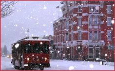 Trolley in the winter of Durango