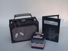 Bastelanleitung kleiner Koffer für Abschiedsgeschenk -