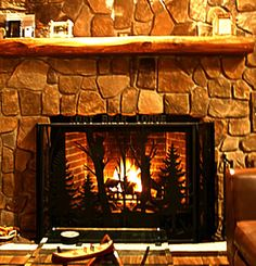 FP-03 Lodge Custom Fireplace Screen by NatureRails