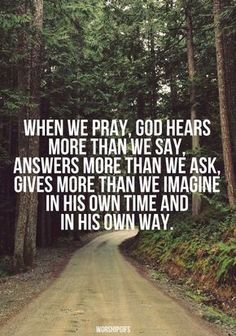 God is good! He always answers our prayers, even if it's not always in the way we imagined