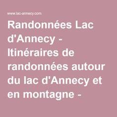 Randonnées Lac d'Annecy - Itinéraires de randonnées autour du lac d'Annecy et en montagne - Office de Tourisme du Lac d'Annecy