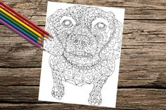 Relax and enjoy this printable coloring page in the comfort of your home! This beautiful abstract dog is waiting for your creative coloring
