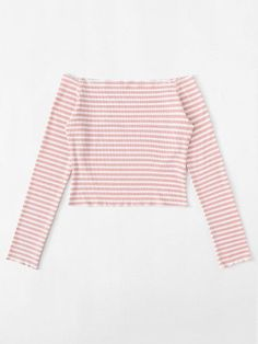 Stripped Off Shoulder Crop TeeFor Women-romwe - Stripped Off Shoulder Crop TeeFor Women-romwe Stripped Off Shoulder Crop TeeFor Women-romwe Source by Cute Girl Outfits, Pink Outfits, Cute Summer Outfits, Trendy Outfits, Girls Fashion Clothes, Teen Fashion Outfits, Girl Fashion, Mode Grunge, Jugend Mode Outfits