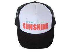 New Summer Trucker Hat For Women Beer Lime Sunshine by LiveForSun