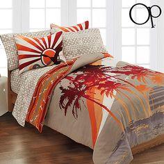 Bedspreads and comforters for teen girls | The Hawaiian Home-Teen Hawaiian Bedding! Love this