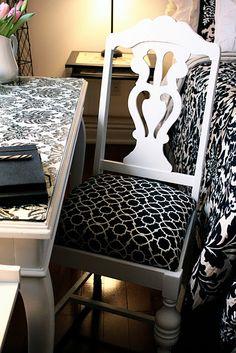 Diy - black & white chair!
